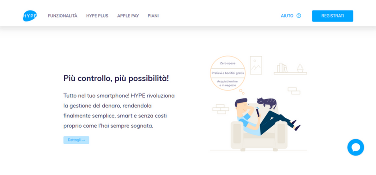 homepage carta conto hype