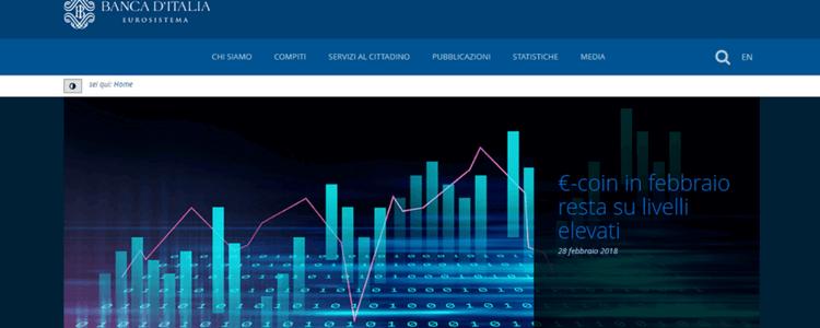 homepage banca d'italia