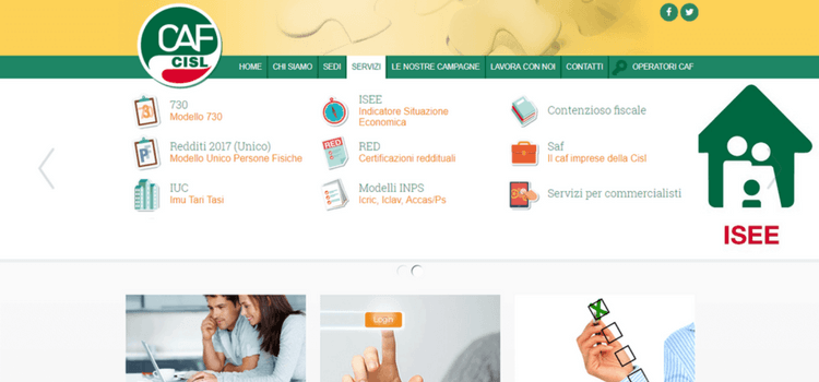 homepage caf servizi reddito cittadinanza