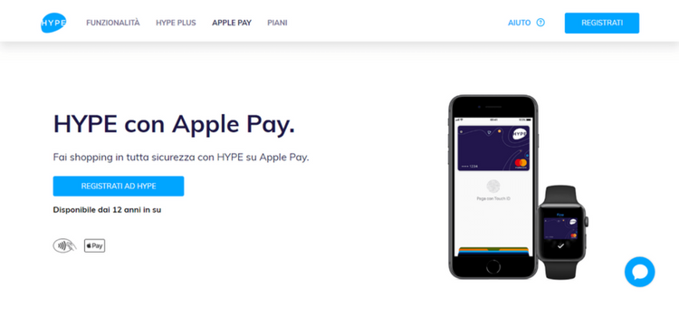 web page carta hype apple pay