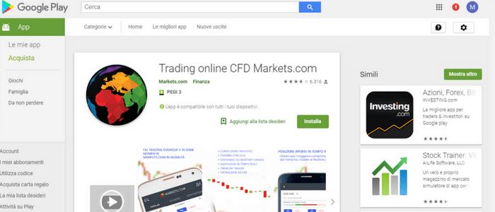 markets app