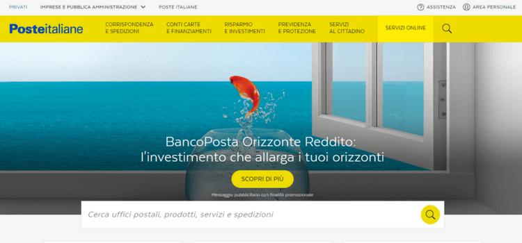 poste italiane homepage