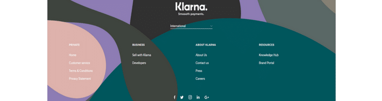 klarna bank homepage