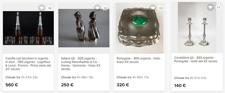 comprare argento gioielli