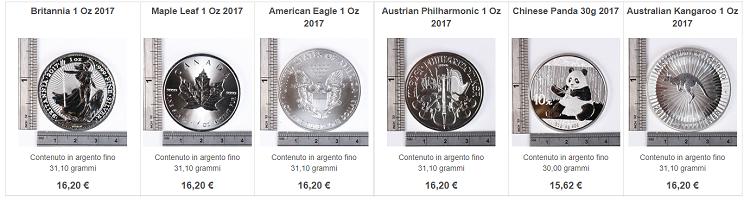 comprare monete argento