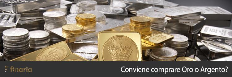 comprare oro o argento