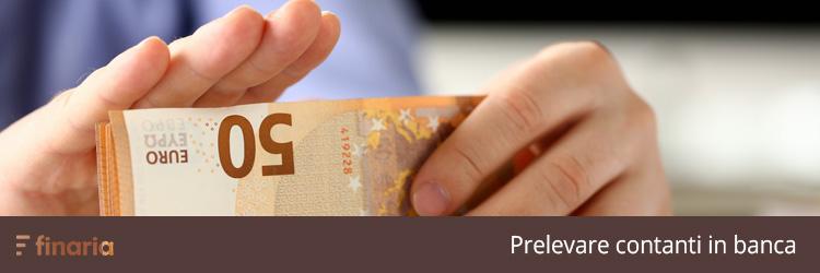 prelevare contanti in banca