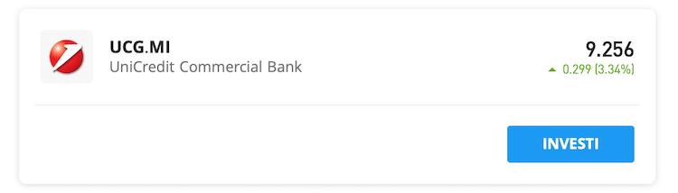 comprare Azioni Unicredit