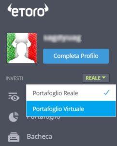 etoro conto virtuale