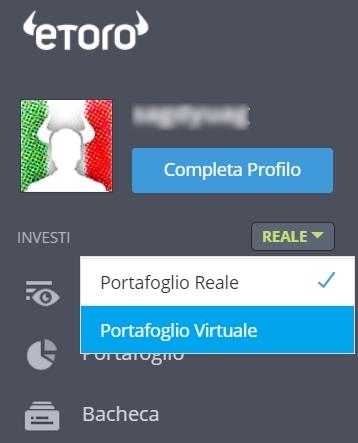 etoro portafoglio virtuale