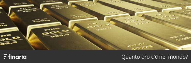 Quanto oro c'è nel mondo