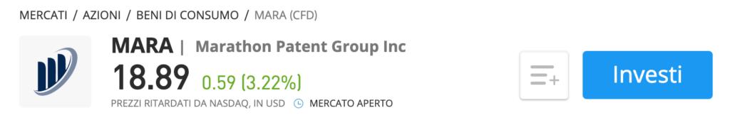 azioni marathon patent group