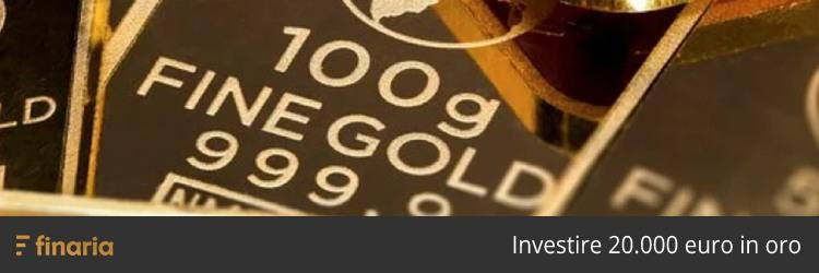 investire 20000 euro in oro