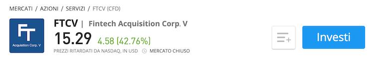 Fintech Acquisition Corp. V