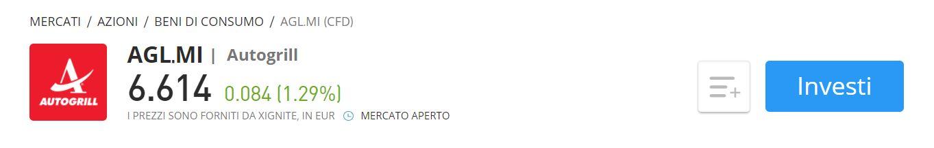 eToro Autogrill CFD