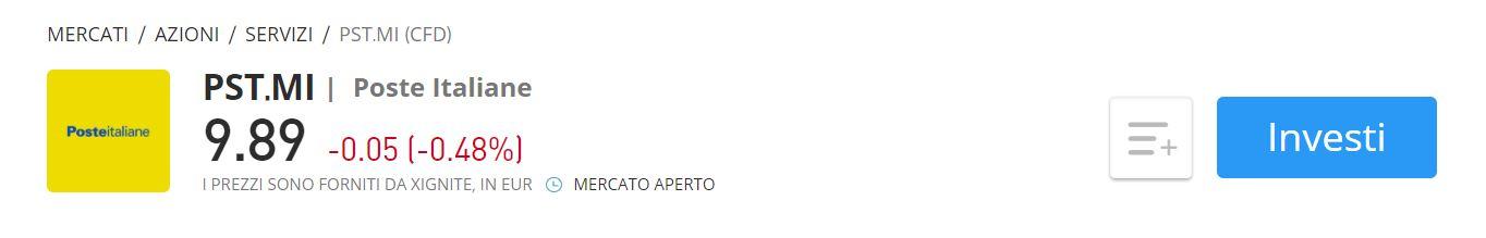eToro CFD Poste Italiane