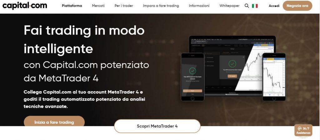 Migliori Broker MT4 su Capital.com