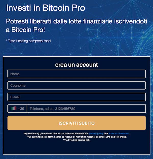 bitcoin pro login