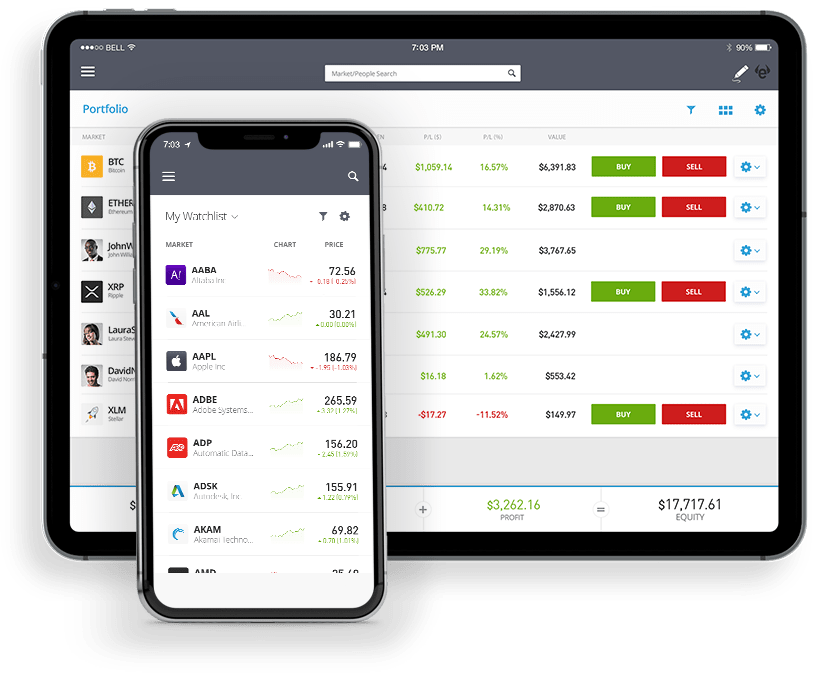 eToro-app-smartphone e tablet