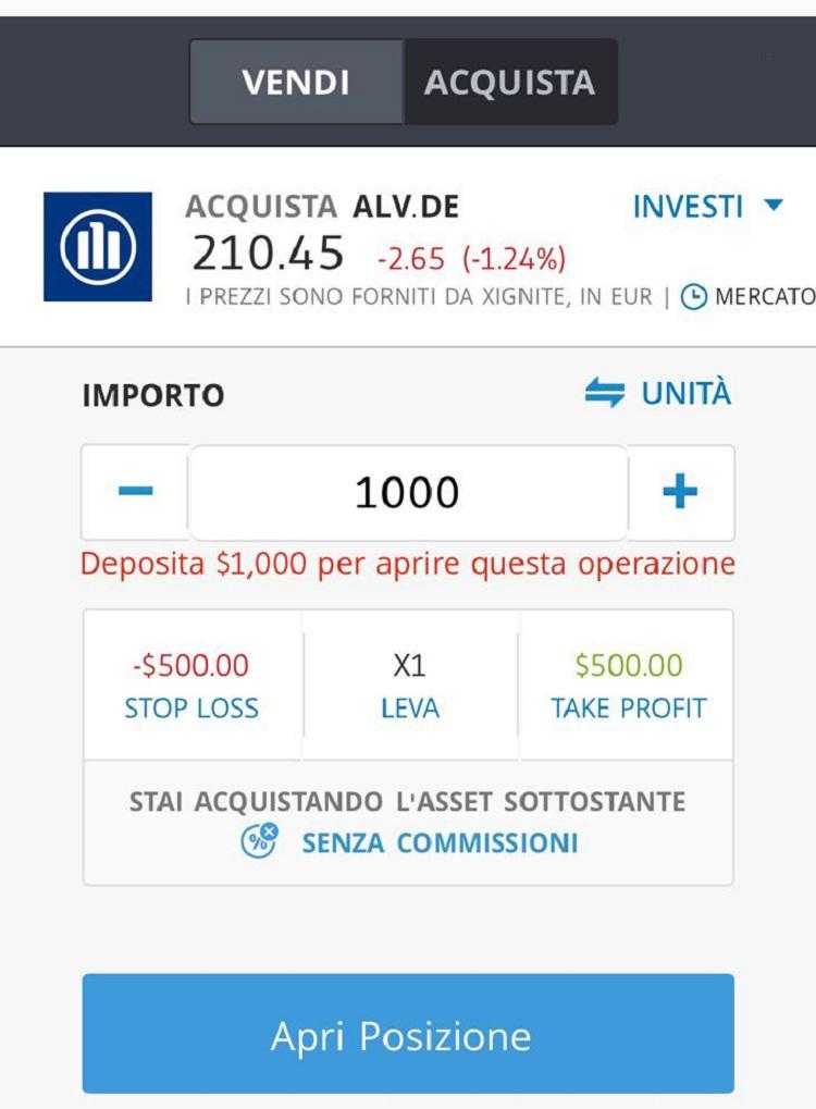 Allianz come comprare azioni indice DAX