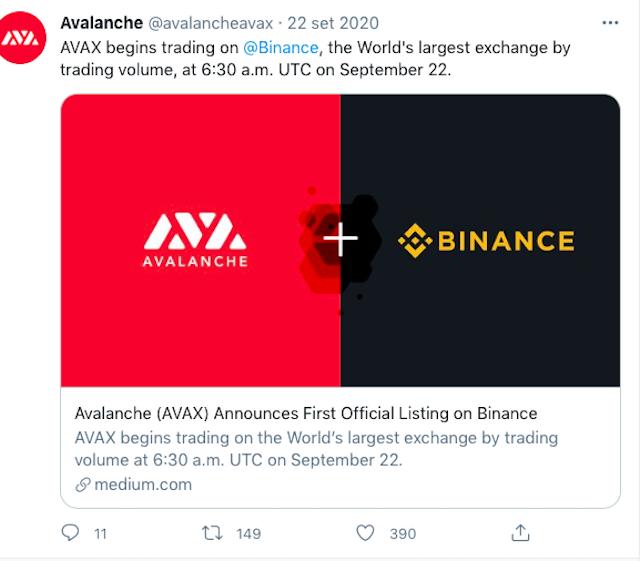 Avalanche Binance