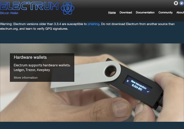 Electrum home page