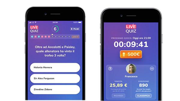 App per Guadagnare Soldi live quiz