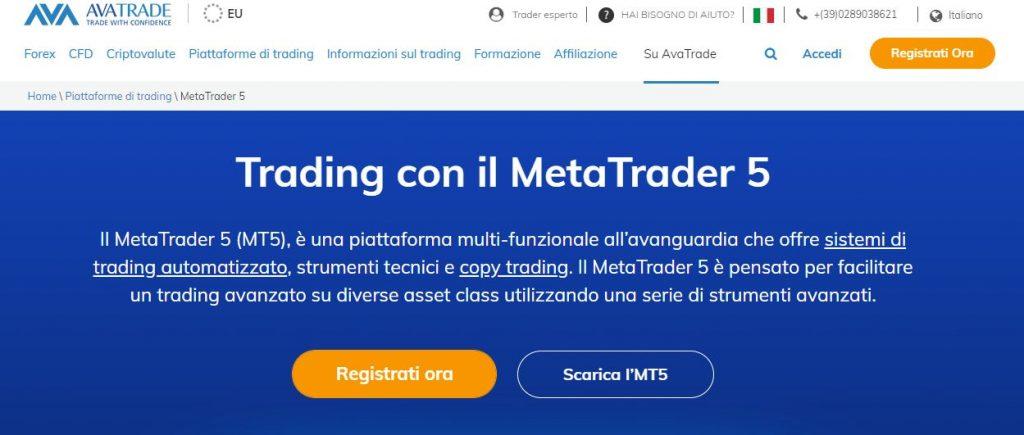 AvaTrade MetaTrader 5