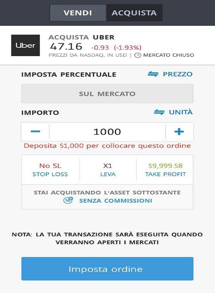 Come comprare Azioni Uber