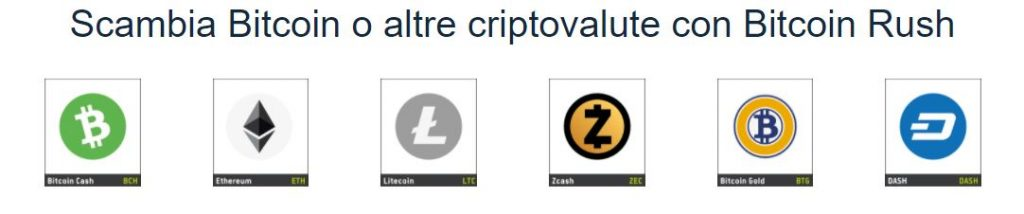 Bitcoin Rush criptovalute