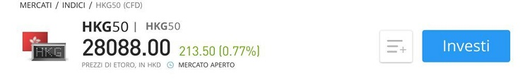 Investire sull'indice Hang Seng