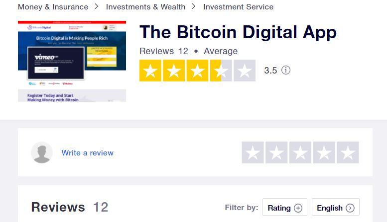 Bitcoin Digital Trustpilot