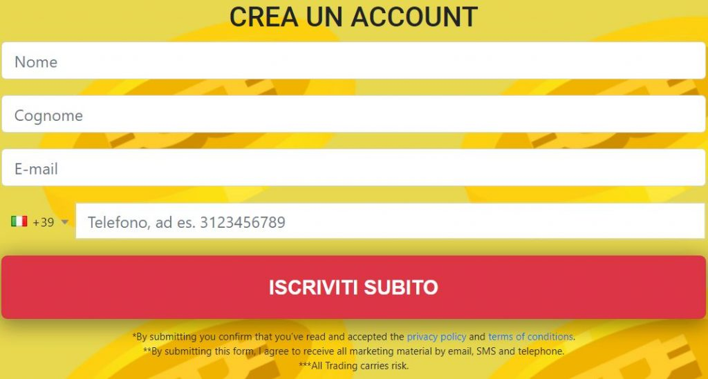 Bitcoin Digital registrazione